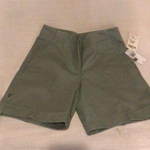 NTW. RAFAELLA. Olive Green Bermuda Shorts.